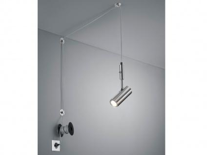 Pendelleuchte Silber matt mit Kabel und Stecker für Steckdose - Spot schwenkbar