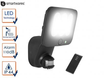 LED Sicherheitsleuchte Bewegungsmelder & Alarmanlage 10W Fernbedienung, Strahler