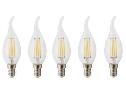 5er-Set FILAMENT-LED Kerze E14, 4 Watt, 400 Lumen, 2700 Kelvin, warmwei - Vorschau 2