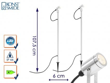 2er LED-Erdspießstrahler Erdspießleuchte Gartenstrahler Außenstrahler MONZA - Vorschau 1