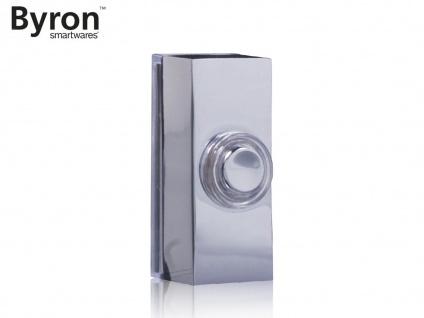 Universal Klingeltaster Chrom Nickel für 1Familienhaus, Klingelknopf beleuchtet