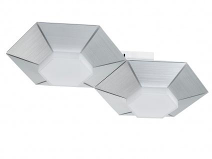 Dimmbare 2 flammige LED Wandlampe Aluminium gebürstet fürs Wohnzimmer Flurlampen