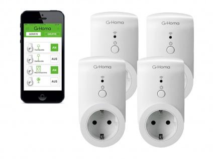 4er-Set WiFi Schaltsteckdosen, App Steuerung für IOS & Android Funk-Steckdosen