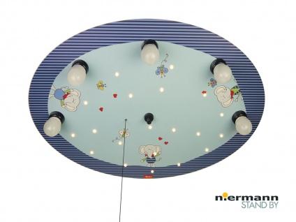 Kinderlampe mit Zugschalter für LED-Schlummerlicht Kinder Deckenleuchte rund
