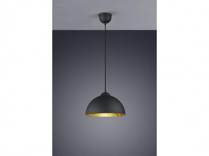 Retro Pendelleuchte dimmbar Ø31cm in schwarz/gold Hängeleuchte für Esszimmer E27