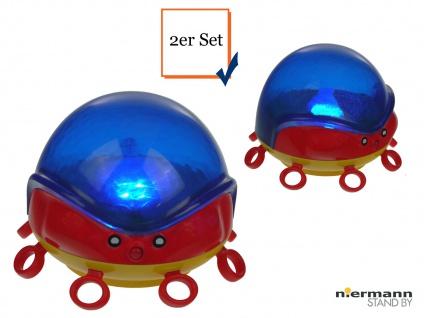 2er Set LED Nachtlicht Kinderzimmer OCTOPUS projiziert Wellen Abschaltautomatik