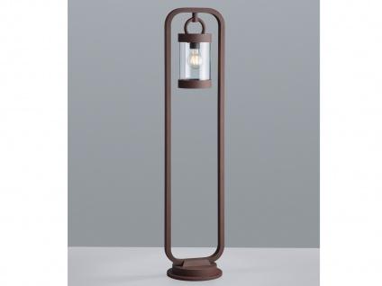 Außenwegeleuchte in Rostoptik moderne Laterne Outdoor Stehlampen für den Garten