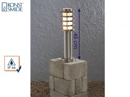 Konstsmide Energiespar Sockelleuchte TRENTO, Wegeleuchte Pollerleuchte Edelstahl - Vorschau 1