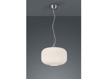 Pendelleuchte Lampenschirm Kugelform Ø35cm aus Glas 1 flammig in weiß geriffelt