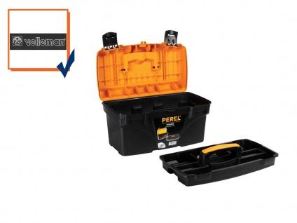 Werkzeugkiste, Werkzeugkasten, Werkzeugkoffer, Kunststoff, 432 x 250 x 238 mm