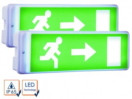 2er-Set LED Notbeleuchtung Fluchtwegleuchte Notlicht Notleuchte Notausgang NV52