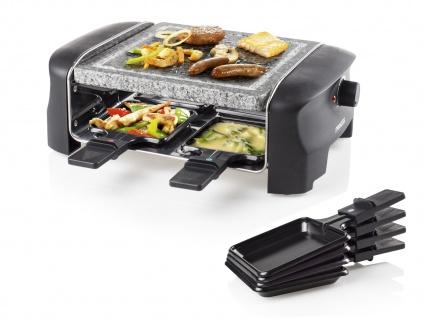 Mini Raclette Gerät mit Steinplatte 4 Personen Raklett Heißer Natursteingrill