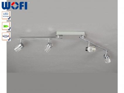 LED Deckenleuchte schwenkbar, Chrom / Acrylglas, Wofi-Leuchten
