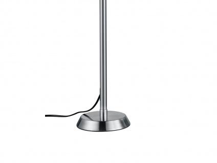 Ausgefallene stufenlos dimmbare LED Schreibtischlampe 85 cm hoch in Nickel matt - Vorschau 5