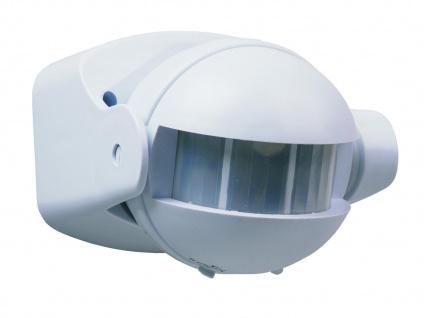 Weißer Bewegungsmelder 12m/180°, einstellbares Zeitintervall, IP44