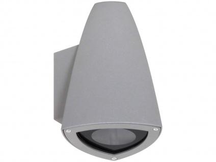 LED Downlight für Innen und Außen, LED-Wandleuchte Aluminium grau
