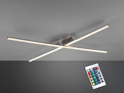 LED Deckenleuchte STRADA mit RGBW Farbwechsler & Fernbedienung, schwenkbare Arme