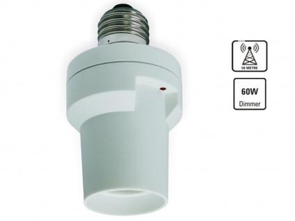 SmartHome FUNK Lampenfassung Dimmer E27 - Funk-Dimm-Funktion - per Funk dimmbar