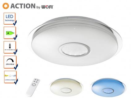 Dimmbare LED Deckenleuchte mit Fernbedienung, Nachtlichtfunktion Farbtemperatur