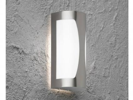 LED Wandleuchte / Außenleuchte Edelstahl Höhe 23, 4cm Beleuchtung Haus Garten