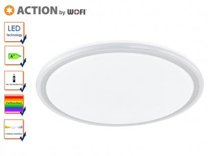 LED Deckenleuchte Farbtemperaturwechsel RGB-LED Fernbedienung Ø 50cm DESIGN