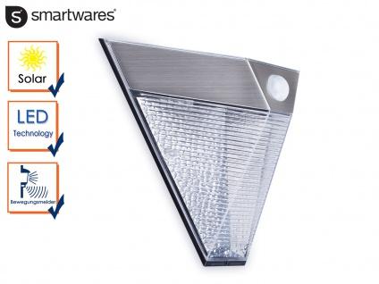 LED Solar Außenleuchte Bewegungsmelder Edelstahl dreieckig IP43 Downlight außen
