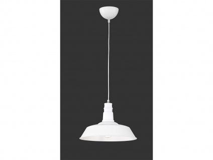 Retro LED Pendelleuchte Ø31cm in Weiß matt Hängelampe für Esszimmer Flurlampen