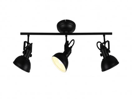 Deckenstrahler 3 flammig im Retro Look aus Metall in Schwarz dreh-und schwenkbar - Vorschau 2