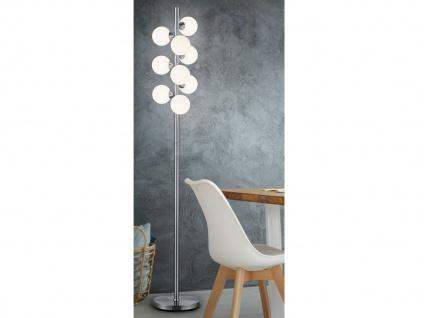 Dimmbare mehrflammige LED Stehleuchte Kugellampe mit Milchglas - fürs Wohnzimmer