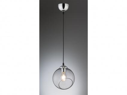 Designer LED Pendelleuchte Glas Lampenschirm Kugelform Ø20cm 1 flammig in rauch