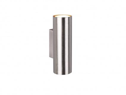 Wandleuchte Up and Down aus Metall Silber mit dimmbaren LEDs, Strahler für Innen - Vorschau 2
