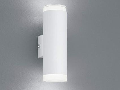 UP and DOWN Fassadenbeleuchtung Außenwandlampe Wandleuchte in Weiß für Terrasse