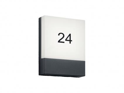 LED Hausnummernlampe für die Außenwand aus Aluminium & Acrylglas IP54, Anthrazit