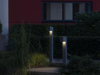 100cm hohe LED Gehwegleuchte aus ALU in anthrazit Lichtstrahl 0°-90° einstellbar - Vorschau 3