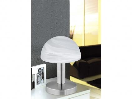 Touch Nachttischlampen mit Glasschirm weiß - dimmbare Leuchten fürs Schlafzimmer - Vorschau 1