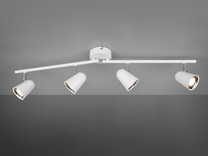 LED Deckenspot Strahler TOULOUSE Weiß matt 4 flammig mit schwenkbaren Spots
