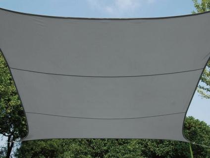 Sonnensegel Viereck Dunkelgrau 5m mit Stangenset für den Garten - Vorschau 2