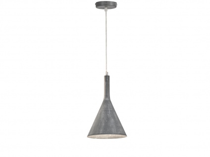 Moderne Honsel Pendelleuchte 18, 5cm in Grau, E27 Hängelampe für Küche Esszimmer