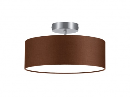 Runde LED Deckenleuchte Textil Lampenschirm Braun Ø30cm Stoffschirm Deckenlampe