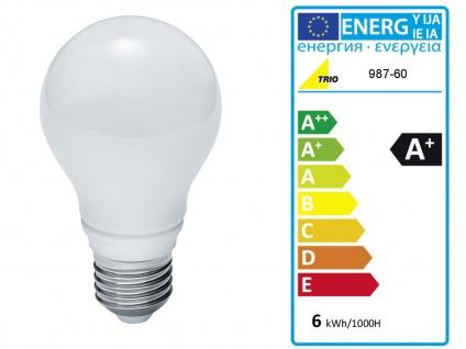 Design LED Tischlampen mit rundem Stoffschirm Weiß Ø30cm - fürs Wohnzimmerlampen - Vorschau 4