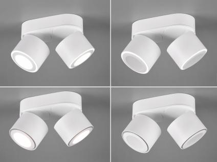 LED Deckenstrahler 2-flammig Weiß schwenkbare Deckenlampen für Flur und Diele - Vorschau 5