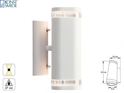 Aluminium Up-Down Wandleuchte weiß GU10 Höhe 23, 5 cm IP44 Fassadenbeleuchtung