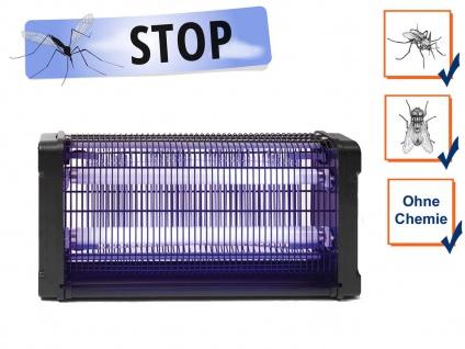 Insektenvernichter 360°, Stechmückenfalle 2x 15W UV Licht, Bereich 100m²