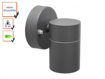 Downlight Außenwandleuchte IP44, inkl. 3W LED 230 Lumen, GU10-Sockel