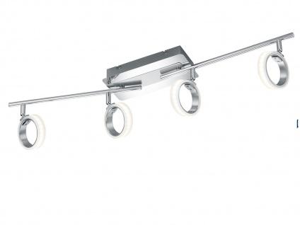 4flammiger LED Deckenstrahler CORLAND Chrom 81cm Spots schwenkbar, Deckenleuchte