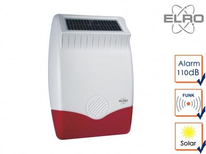 SMART HOME Solar außen Sirene für Elro Alarmanlage AS8000 Handy App Alarmgeber