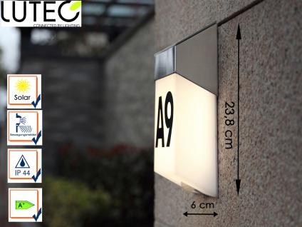 LED Solar Außenleuchte Edelstahl Wandleuchte Bewegungsmelder & Hausnummern IP44