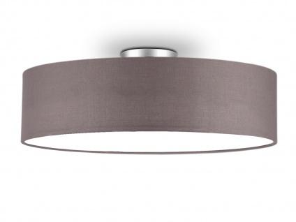 Deckenleuchte mit Stoff Lampenschirm Grau 50cm - Textil Deckenlampe Stoffschirm