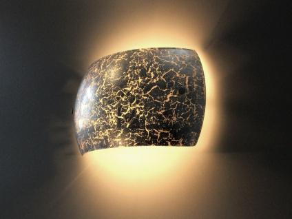 Hochwertige LED Innenwandlampe aus Metall Blattsilber Design eckig, zweiflammig