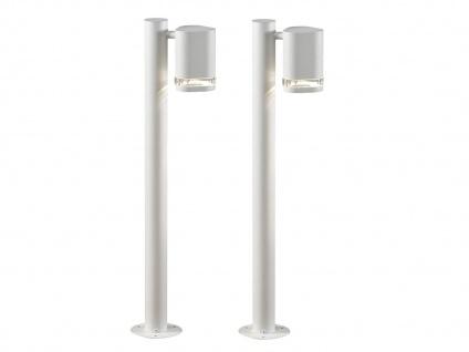2er-Set Aluminium Wegeleuchte MODENA weiss, GU10, Höhe 70 cm, IP44
